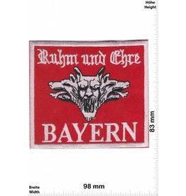 Germany BAYERN - Ruhm und Ehre - rot - red  - Biker Motorcycle  Kutte -