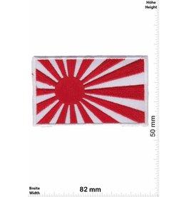 Japan Kyokujitsuki - Flagge der aufgehenden Sonne - Rising Sun - japanische Militärflagge- weiss