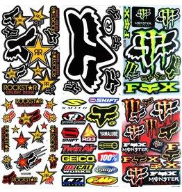 F4 Bögen 6 Sticker Sheets (F4)  FOX MIX 1 -