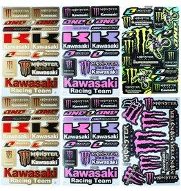 F4 Bögen 6 Aufkleberbögen (F4)  KAWASAKI MIX 1 -