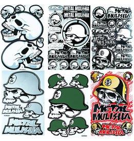F4 Bögen 6 Sticker Sheets (F4)  Metal Mulisha  MIX 1 -