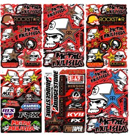 F4 Bögen 6 Sticker Sheets (F4)  Metal Mulisha  MIX 3 -