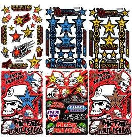 F4 Bögen 6 Sticker Sheets (F4)  Energy Rockstar  MIX 1 -