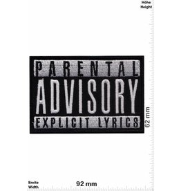 Parental Advisory Parental Advisory Explicit Lyrics - schwarz