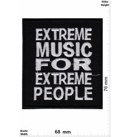 Oldschool Extrem Music for extreme People