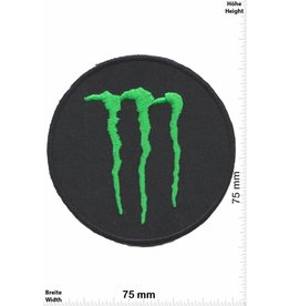 Monster Monster - round - Energy  - black green
