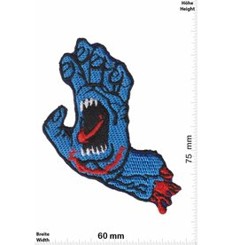Santa Cruz Speedwheels - Santa Cruz Skateboards - blaue Monsterhand  - small