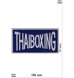 Boxen Thaiboxing - blau silber