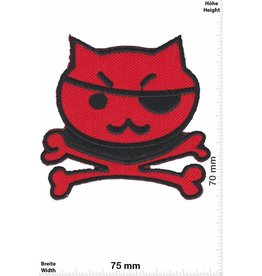 Pirat Pirate Cat - black red