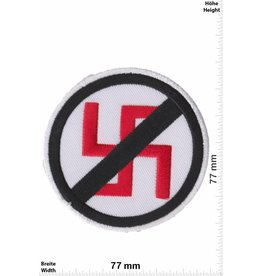 No Nazi NO Stop Nazi - black  red