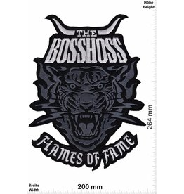 Bosshoss The BOSSHOSS - Flames of Fame - silver- 26cm - BIG