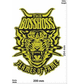 Bosshoss The BOSSHOSS - Flames of Fame - gold- 26cm - BIG