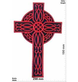 Crucifix Cross - Crucifix - red -  29 cm