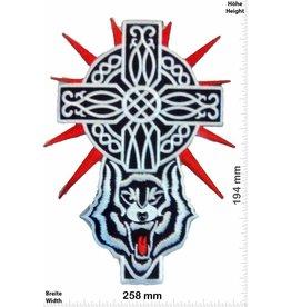 Crucifix Cross - Crucifix - Wolf -  25 cm