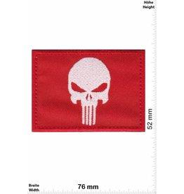 Punisher Punisher - rot weiss -Flag