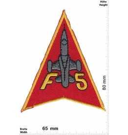 F 5 F-5 - red  - US Airforce