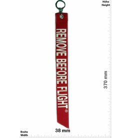 Kofferfahne, Suitcaseflag REMOVE BEFORE FLIGHT - red- Luggage tag - BIG