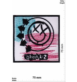Blink 182 Blink 182  - smiley - rot blau
