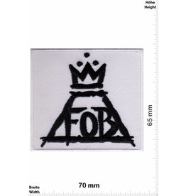 Fall Out Boy Fall Out Boy - Logo weiss- Alternative-Rockband