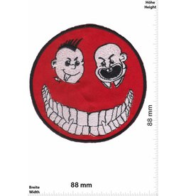 Punk Smiley rot - Punk