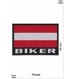 Österreich , Austria Biker Austria - Österreich - Flagge