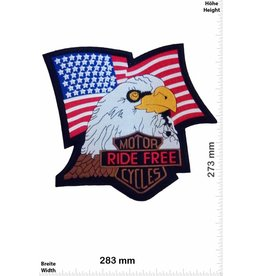 Bikerpatch Ride Free - Motor Cycles - 28 cm