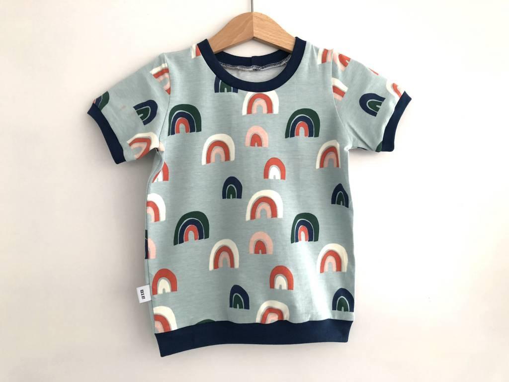Iek & Jet T-shirt Otis - rainbow mint