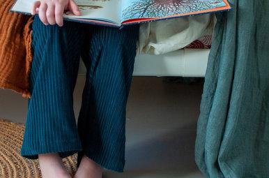 Flared pants Gigi - petrol (groen)