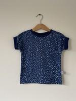 T-shirt Fons - blauw met witte stippen