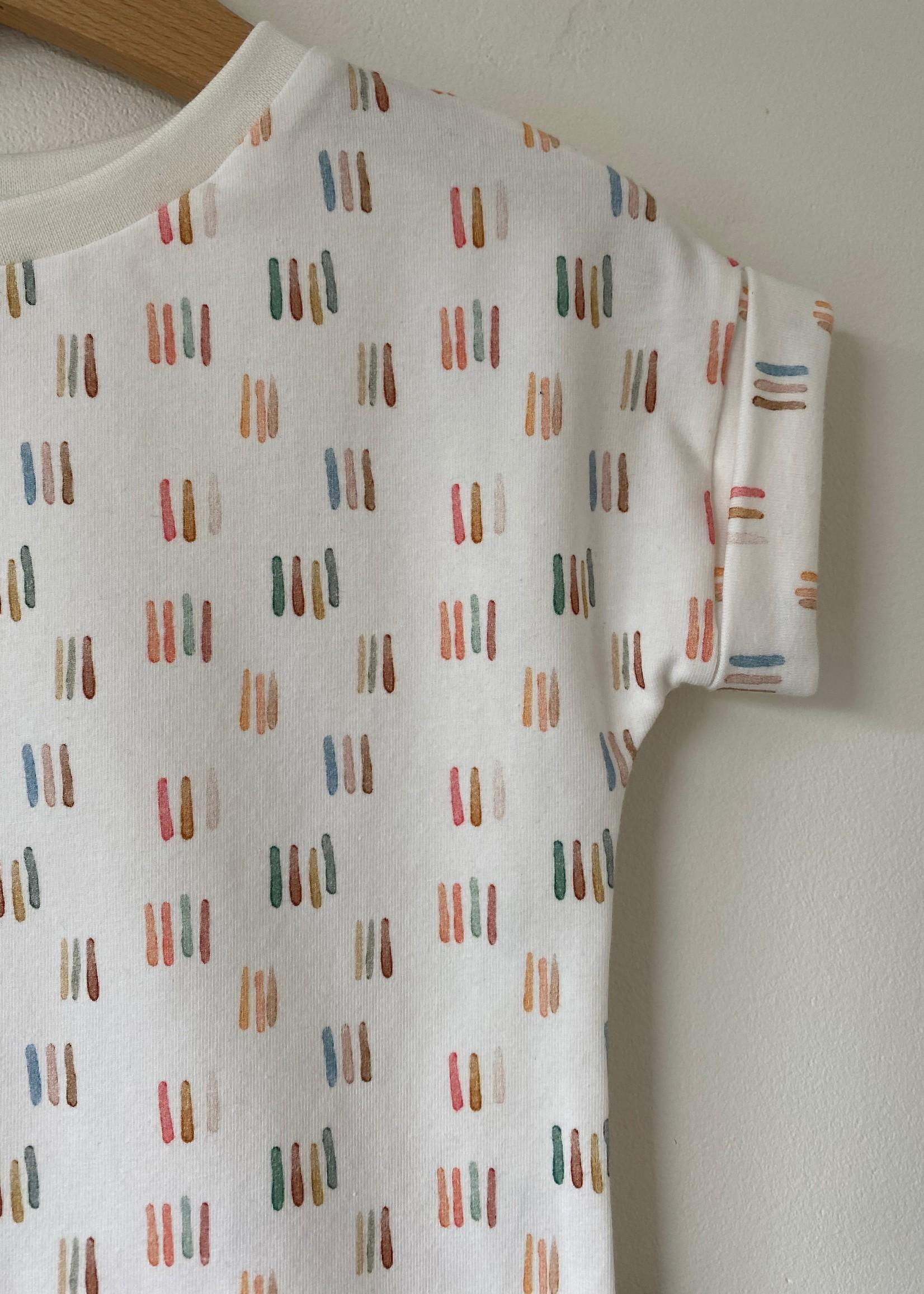 T-shirt Fons - verf streepjes