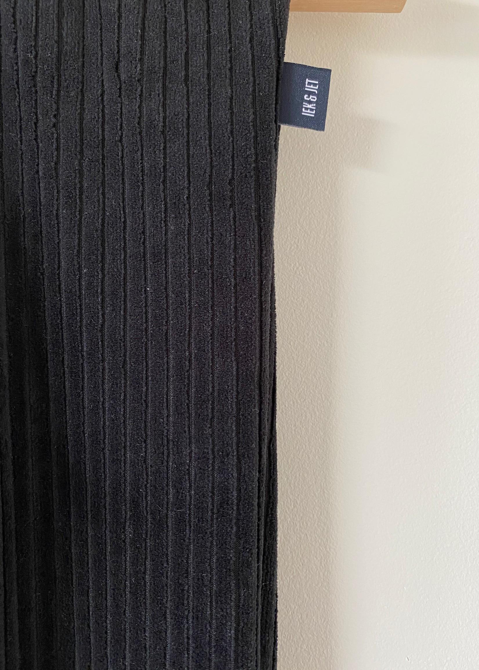 Flared broek Gigi - zwart rib