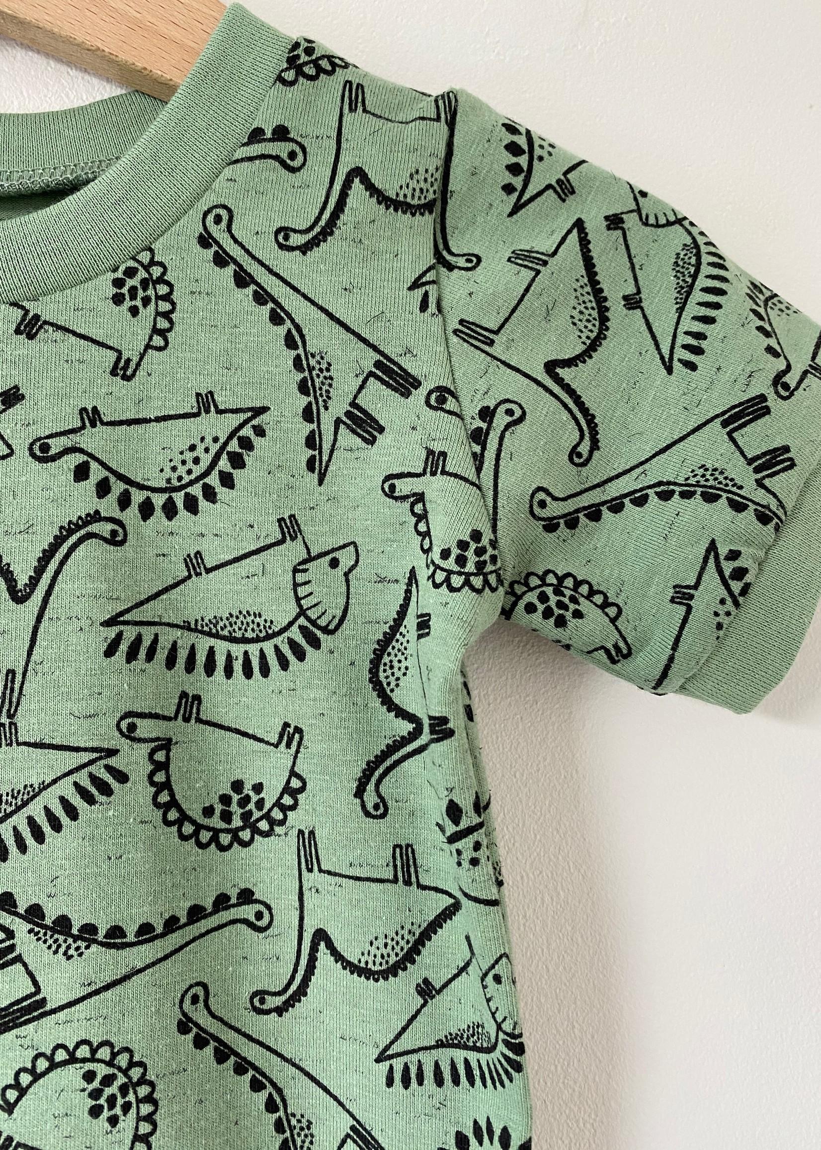 T-shirt Otis - dino groen