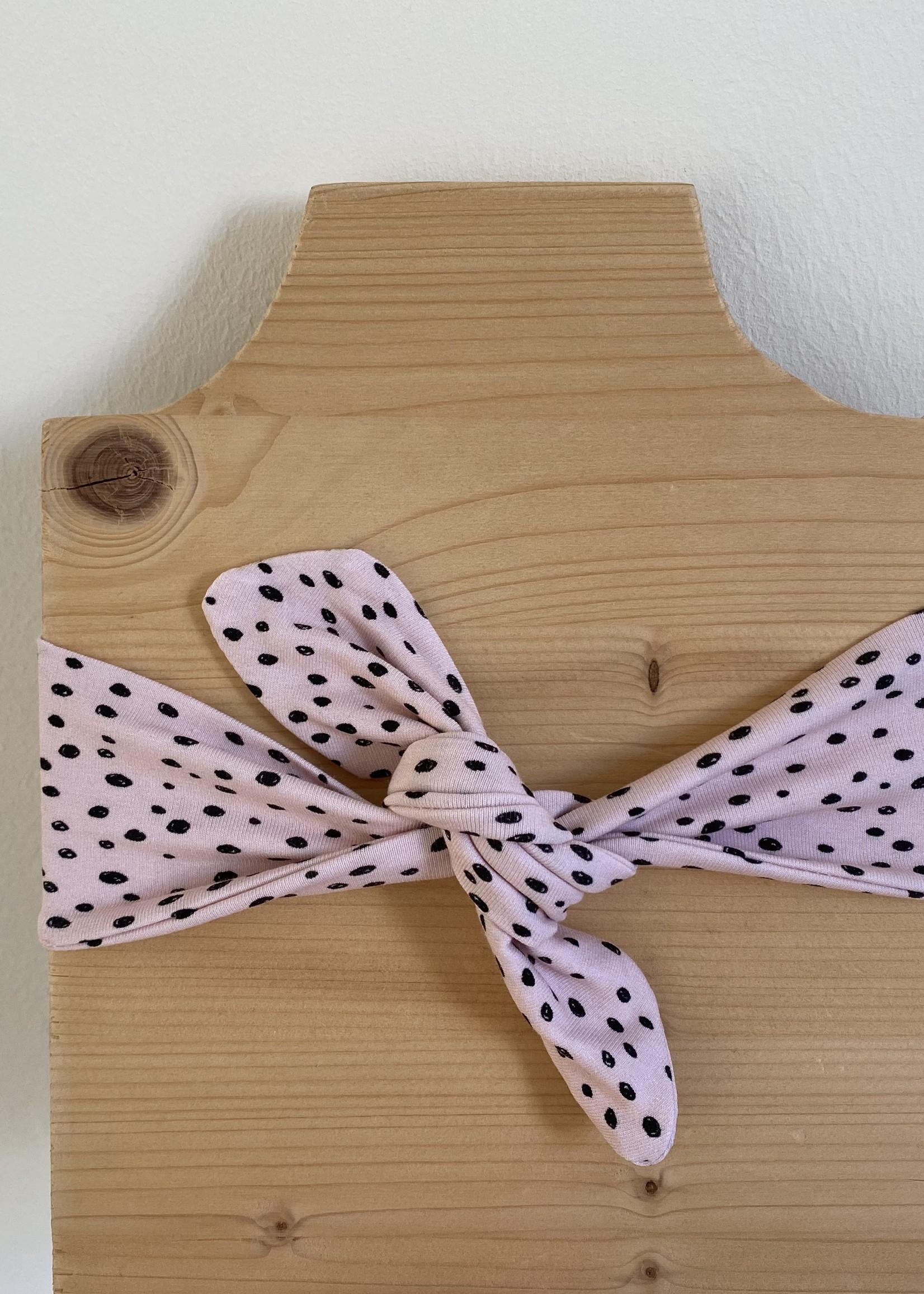 Haarband Ally - roze met zwarte stipjes