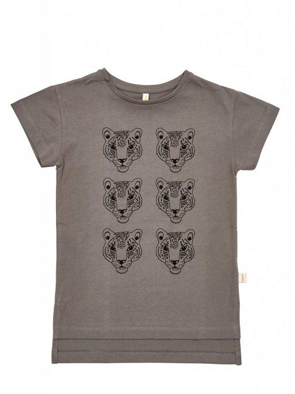 Charcoal leopard t-shirt LAATSTE MAAT 80/86