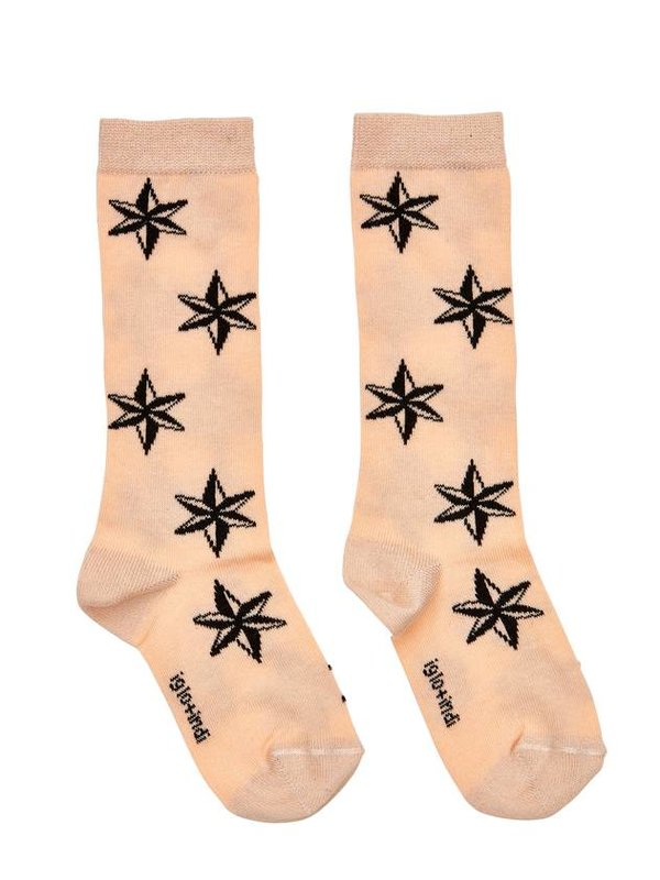 Peach Star Socks