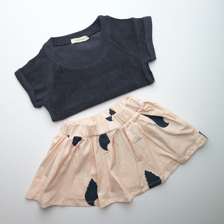 Moderne meisjeskleding outfit organic cotton