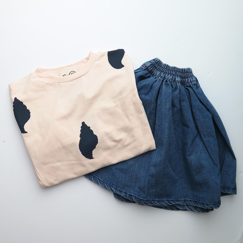 Meisjeskleding outfit rok denim