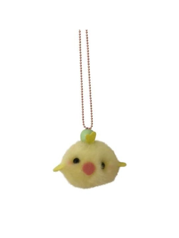 Pom Pom Chick Necklace (multiple colors)