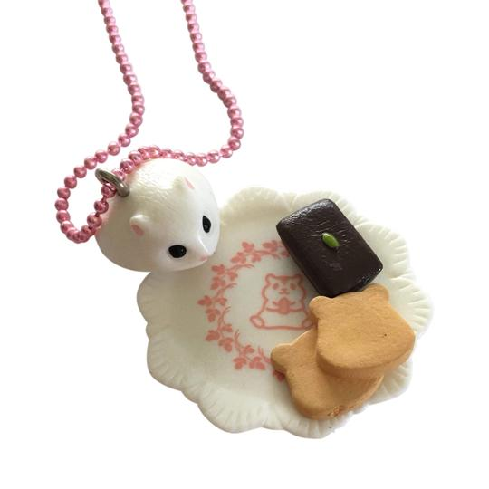 hamster bakery necklace - popcutie