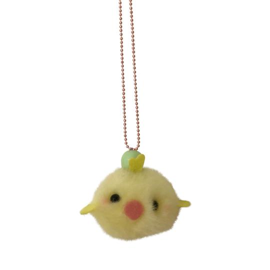pom pom chick necklace - popcutie