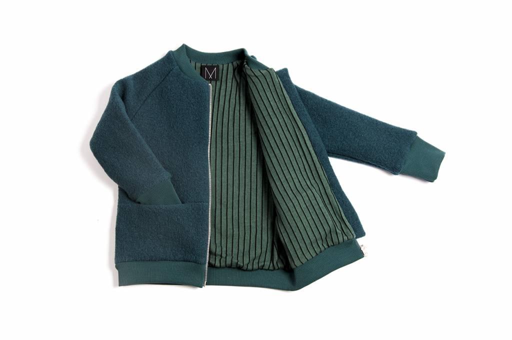 Petrol Wool Bomber Jacket