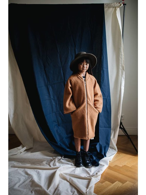 Terracotta Wool Coat