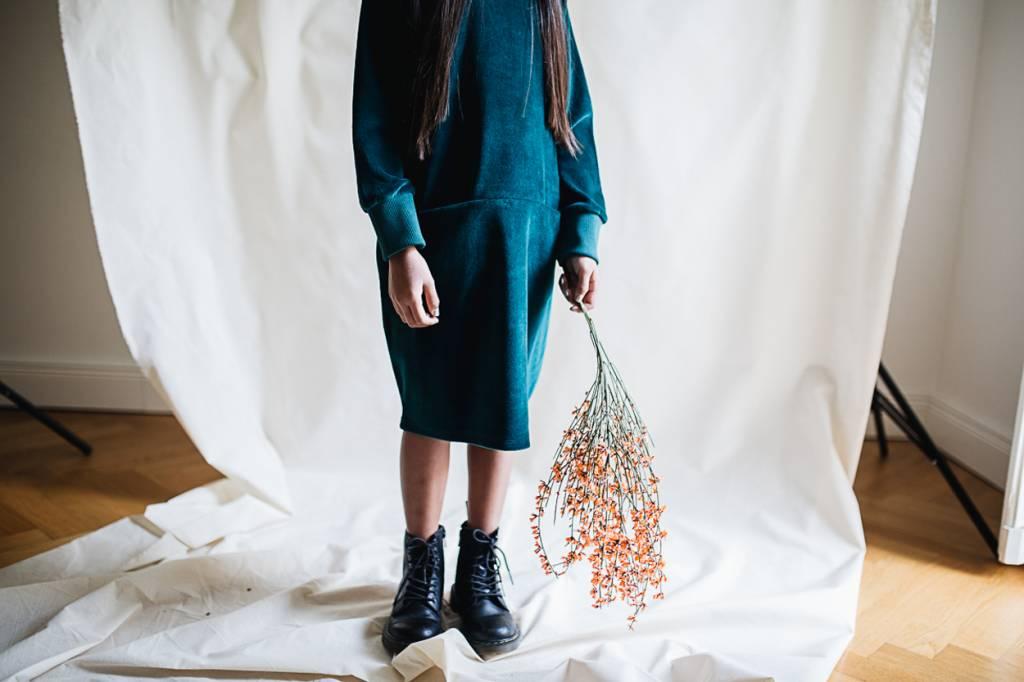 Emerald Pockets Dress