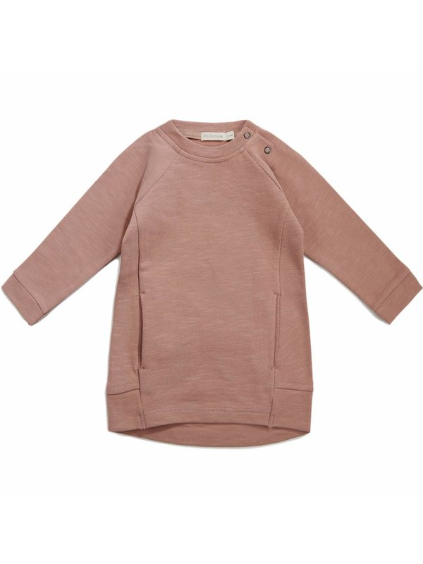 Sweat dress dusty blush LAATSTE MAAT 18M