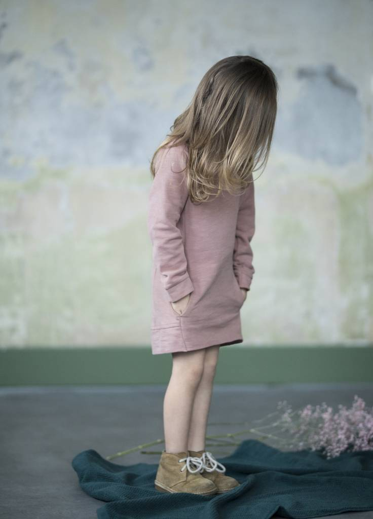 Sweat dress dusty blush