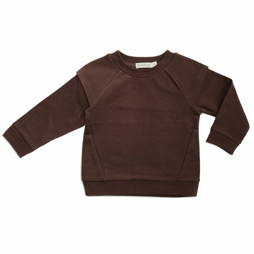 Epaulette sweater Cocoa