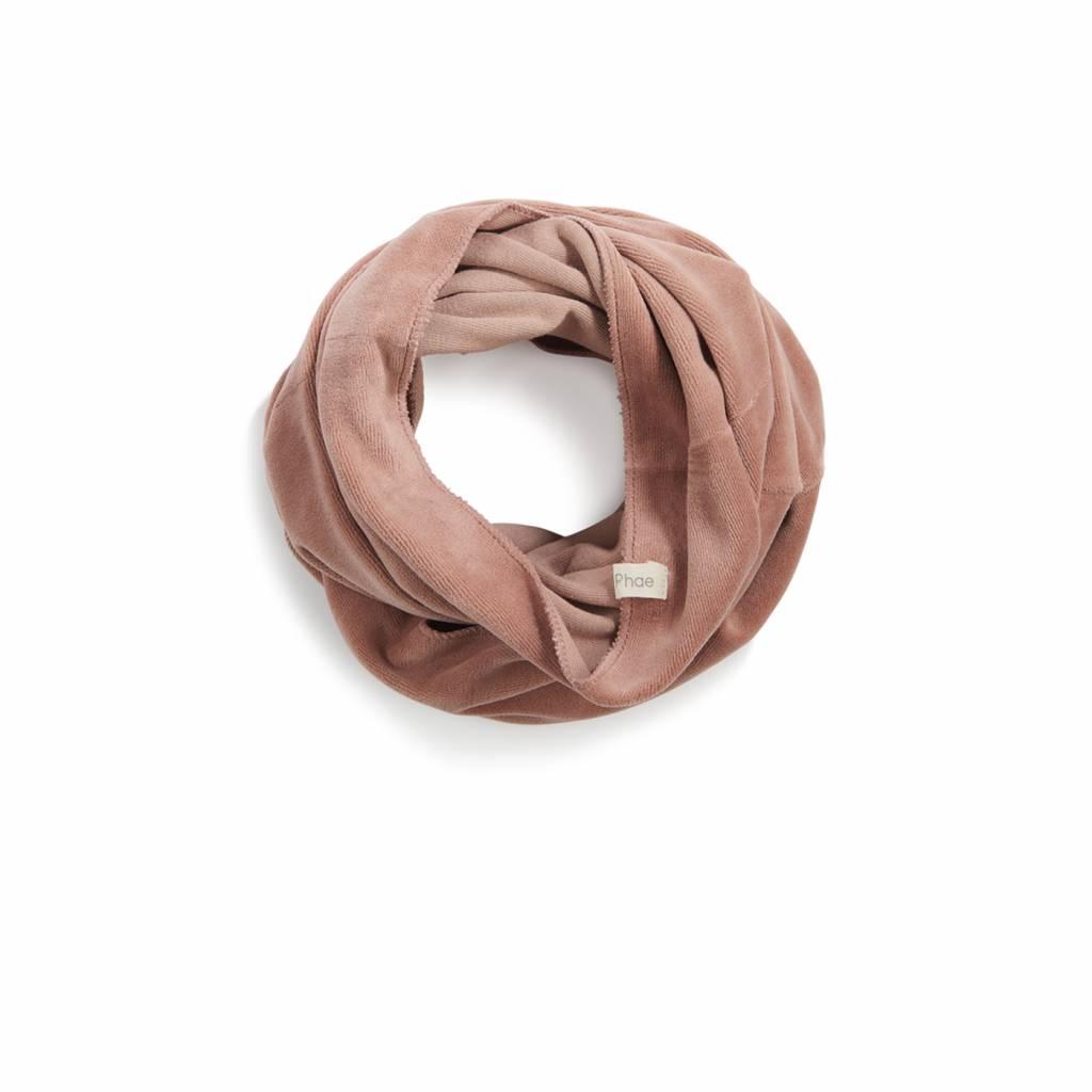 SOLD Infinity scarf velvet dusty blush
