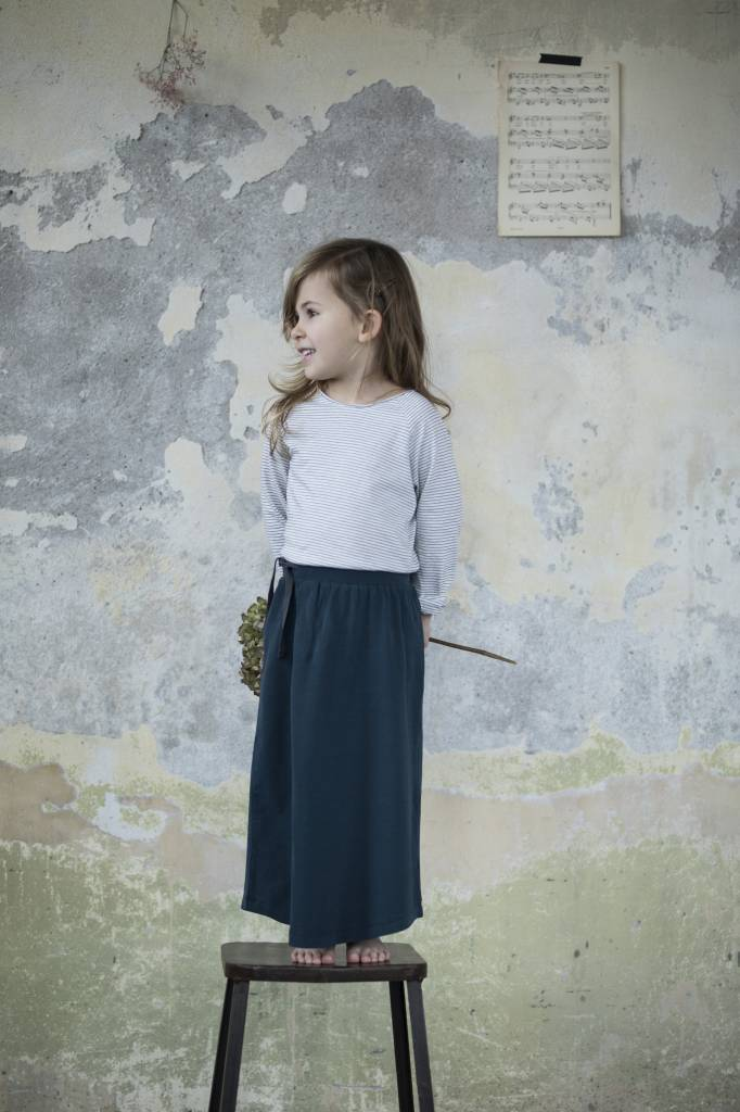 Long skirt deep teal
