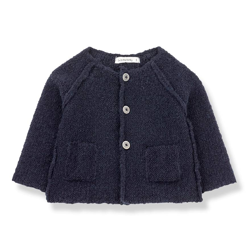 Agnes knitted jacket blue