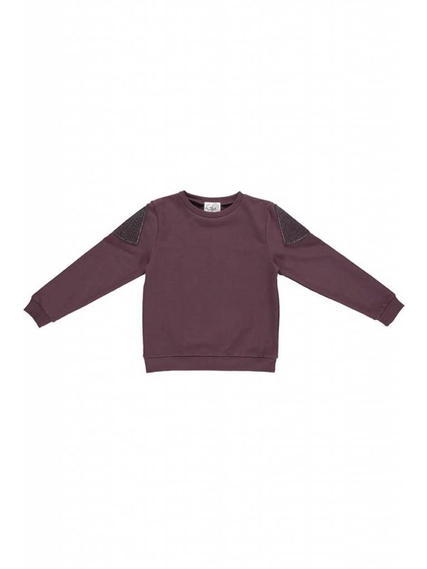 Sweater aubergine LAATSTE MAAT 92